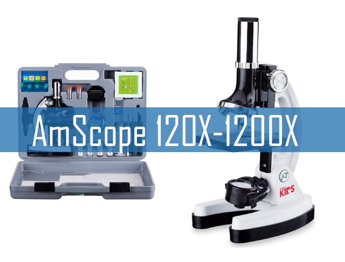 AmScope 120X-1200X microscope for kids