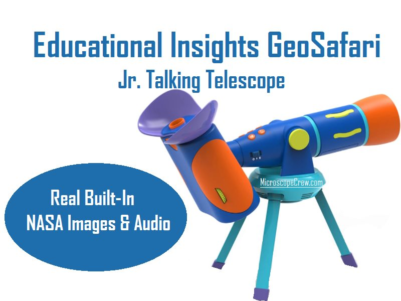Educational Insights GeoSafari Jr. Talking Telescope Featuring Emily Calandrelli, Telescope For Kids With Real Built-In NASA Images & Audio, Interactive Learning, Ages 4+