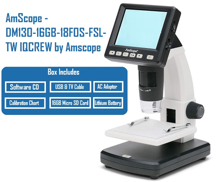 AmScope - DM130-16GB-18FOS-FSL-TW IQCREW by Amscope review