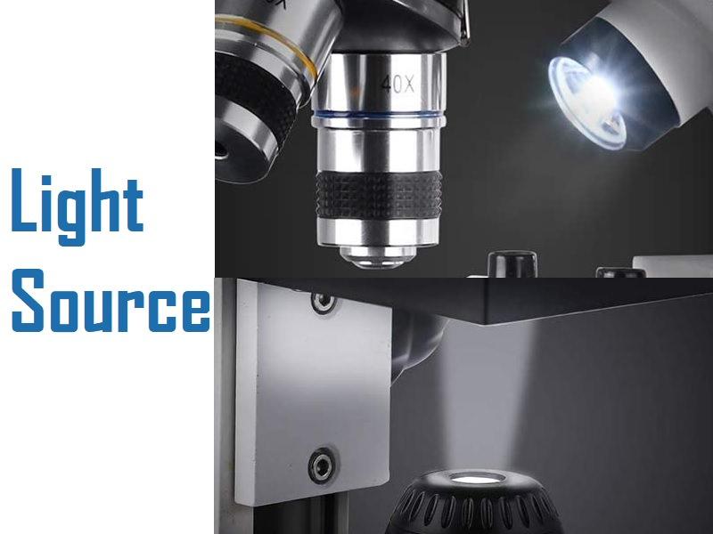 Duo Light source of telmu 40-1000x microscope