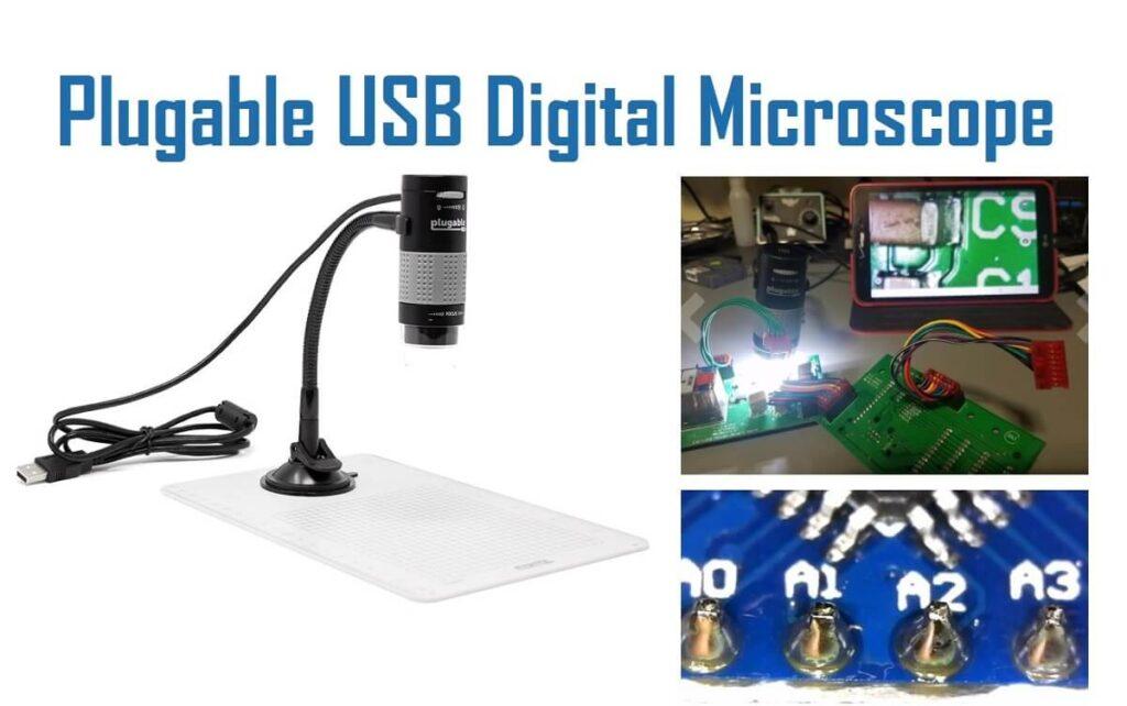 Pluggable USB digital microscope