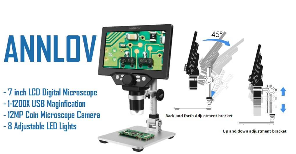 ANNLOV 7 LCD microscope 12mp camera