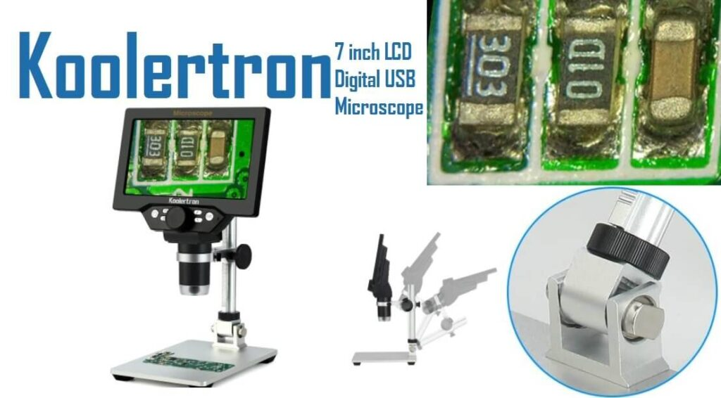 Koolertron 7 inch LCD Digital USB Microscope for electronic repair
