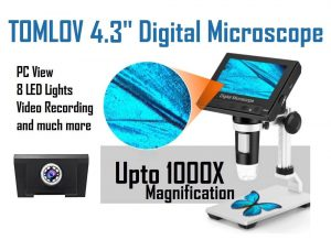 Tomlov digital microscope up to 1000x magnification